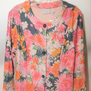 NWT Susan Graver Button Front Cardigan US size Med
